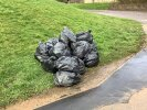 Large number of dumped rubbish bags